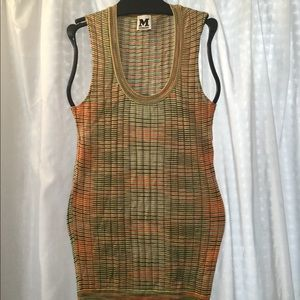 Missoni 2 knit tank top sleeveless russet, mint